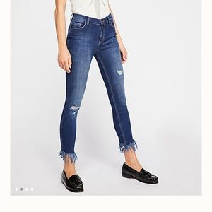 Free people frayed skinny jeans